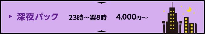 深夜パック 23時〜翌8時 4,000円〜