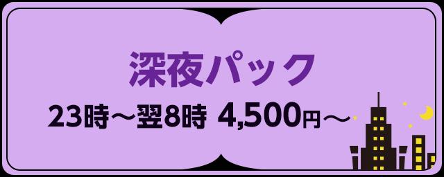 深夜パック 23時〜翌8時 4,500円〜